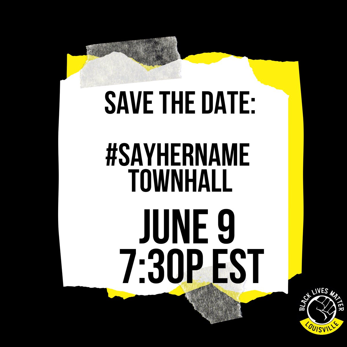 More details coming soon. Save the date, spread the word. #Sayhername #justiceforBreonnaTaylor #JusticeforBre https://t.co/sOKzbeslEZ