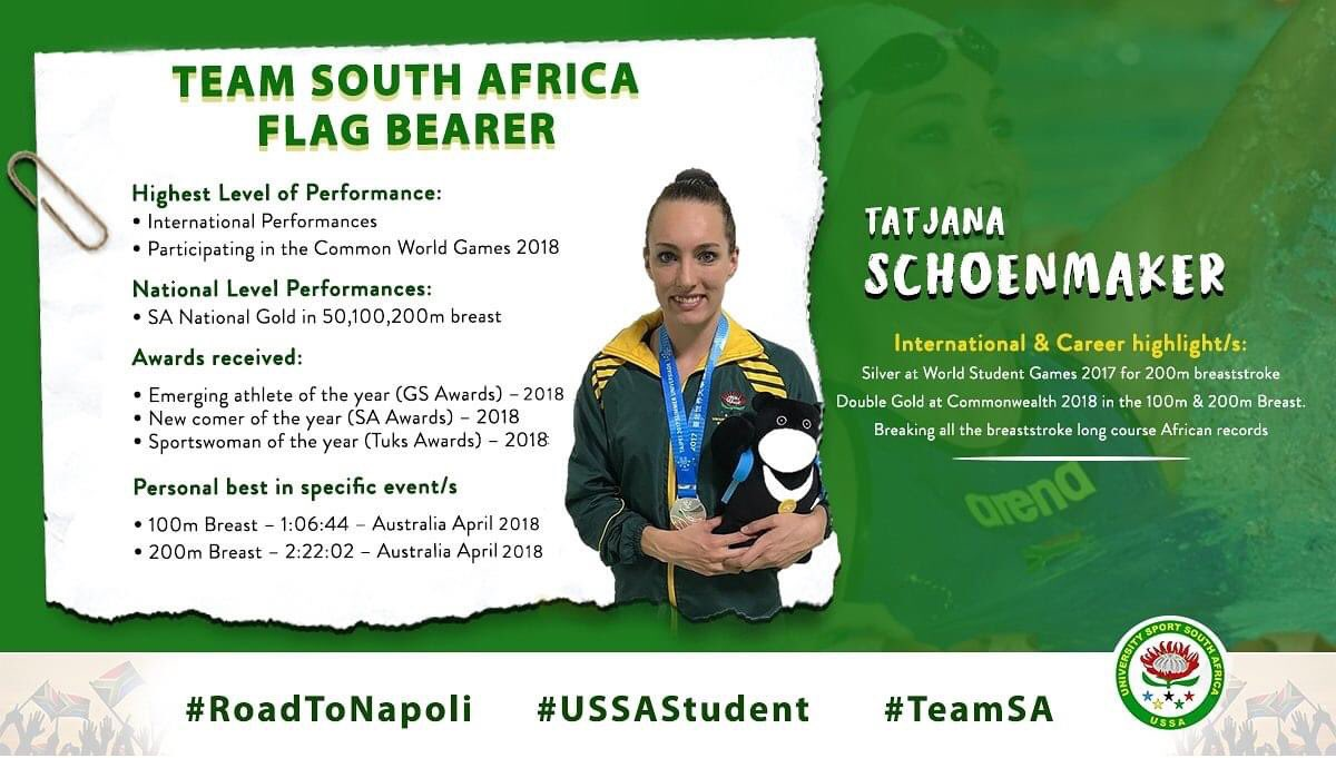 Down memory lane @TRSchoenmaker with the @USSAstudent family.  What a super super star you were @Napoli2019_ita @FISU games. Thank you once again pic.twitter.com/CRYlvIq8md