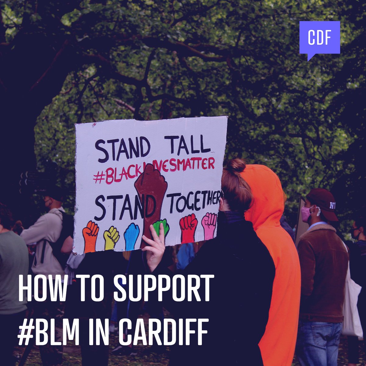 How to support the #BlackLivesMatter movement in Cardiff: a thread. [1/?]