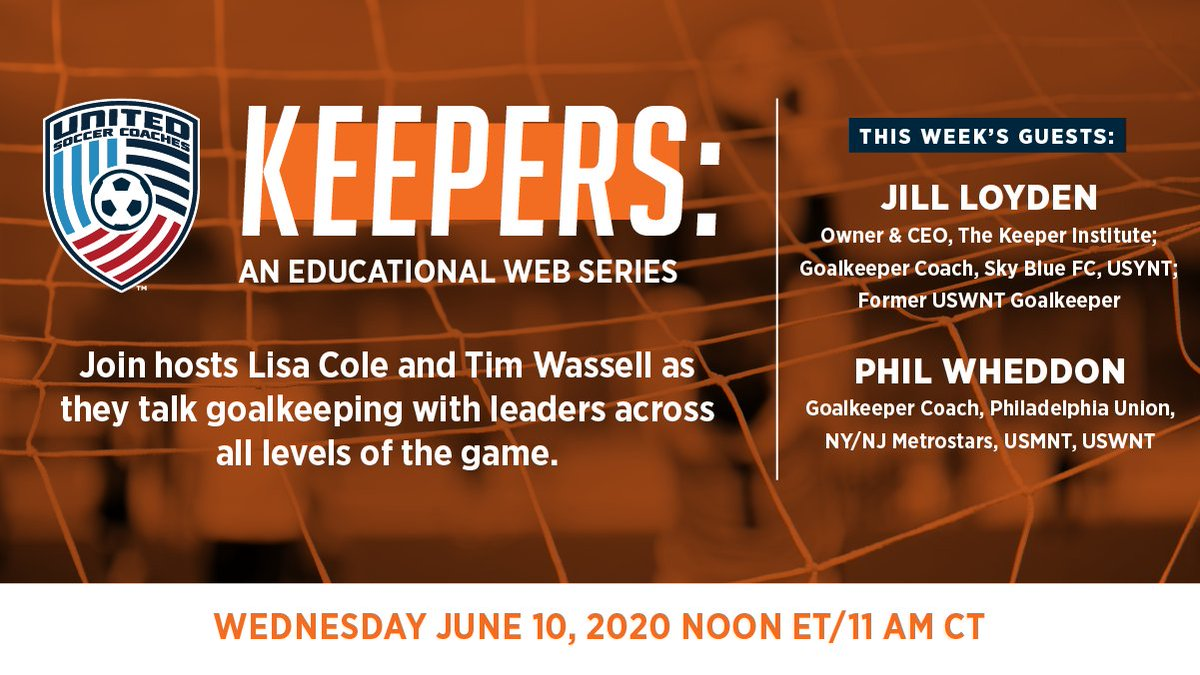 "Hosts @Lcole22 & @psucoachtim are back Wednesday, June 10 at Noon ET/11 am CT for the next ""Keepers: An Educational Web Series."" This week they're joined by Jill Loyden of @KeeperInstitute and @PhilWheddon. Register for the free webinar below.  ➡️ https://t.co/SMSvU933ja https://t.co/V0WyN1fbYv"