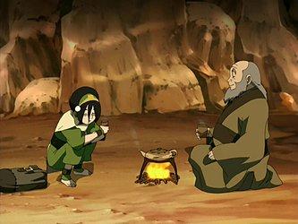 Toph & Iroh share tea