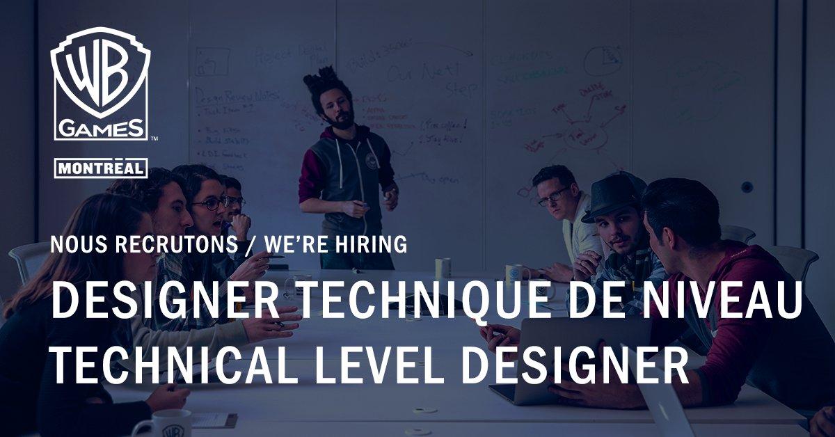 Hot job de la semaine : Designer technique de niveau 🔥  Rejoignez-nous ! : https://t.co/700IWUZJo7  💼  Weekly hot job : Technical level designer 🔥  Join us! : https://t.co/700IWUZJo7 https://t.co/t6HjkUK3Q4