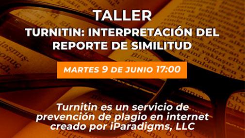 """Acompáñanos mañana 9 de Junio a partir de las 17:00 en el taller: """"@TurnitinLATAM: Interpretación del reporte de similitud"""". @TurnitinLATAM es un servicio de prevención de plagio en internet. ▶️ Link de acceso: https://t.co/Yp7UOhWLbA @usach @Ciencia_Usach @FingUsach @faeusach https://t.co/OwWExRmJOm"""