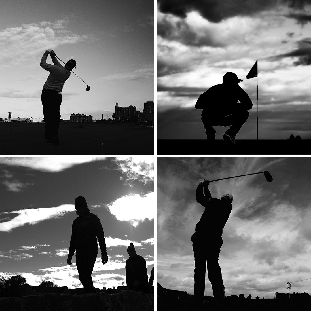 "A different perspective from the #dunhilllinks by top golf photographers from @GettySport, including @Cannonball63 who explains: ""When I shoot a silhouette, I aim to make it so one can easily identify the star; they all have their own unique profiles."" Can you guess who they are?"