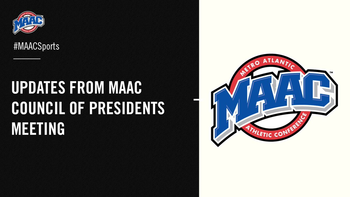 Updates from MAAC Council of Presidents Meeting ⤵ #MAACSports 📰: bit.ly/2XJljLx