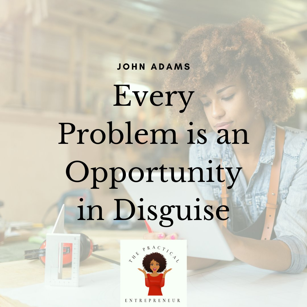 Don't let problems get you down...they are nothing more than opportunities! #opportunitiesindisguise #thepracticalbizcoach #goforthandcreate https://t.co/vIlCqFrD28