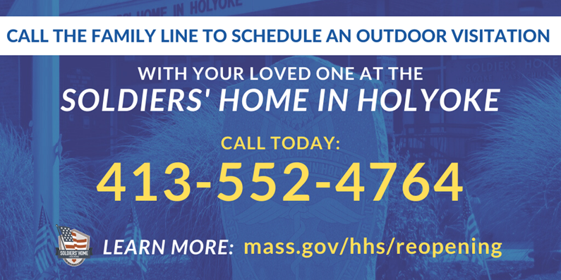 With outdoor visitation guidance issued, families can schedule visits via our Family Line. Visits will begin 6/16 & continue every Tues-Sat @ 10am,11am,1pm&2pm  Call M-F 8am-4pm to schedule an outdoor visit w your loved one:  📞413-552-4764  Learn more: 🔗 https://t.co/QxKOVLaOQB https://t.co/O76MC7QgLV