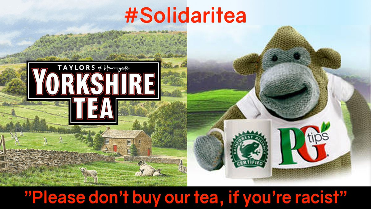 This country is more than its government and even though Im not a tea-drinker, #solidaritea epitomises why I love UK. Thank you Yorkshire Tea and PG Tips for providing a ray of light at a gloomy time. #solidaritea - the most British hashtag ever!