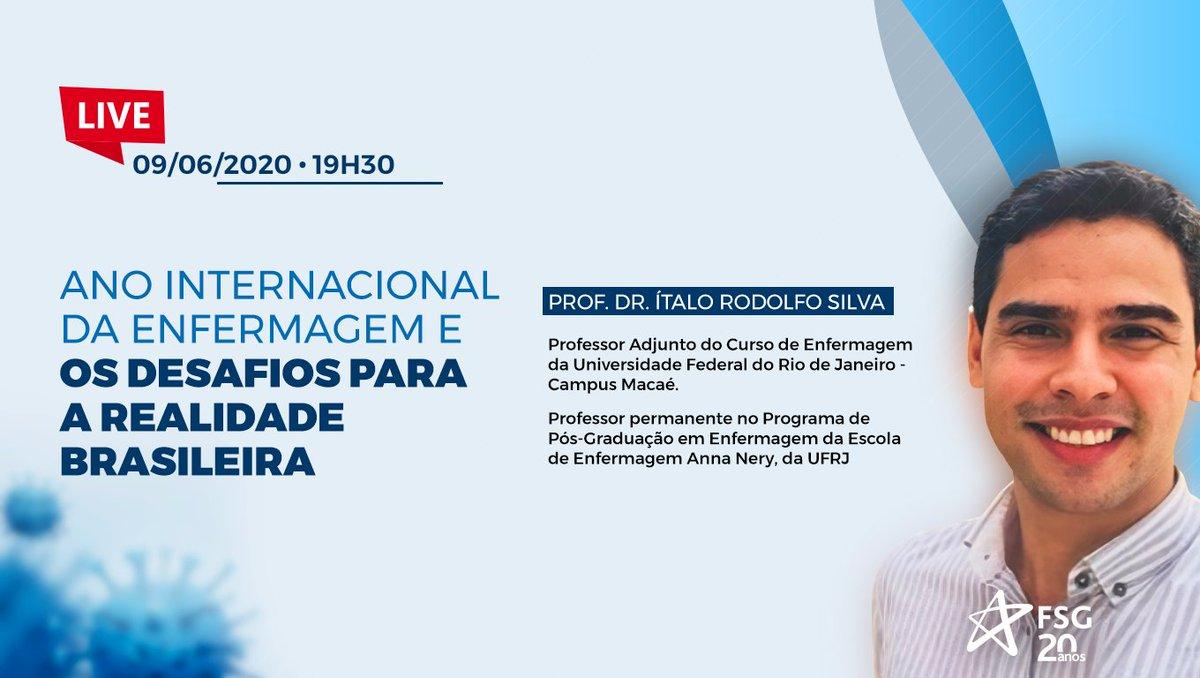 """Participe da Live """"Ano Internacional da Enfermagem e os desafios para a realidade brasileira"""" que acontece amanhã, às 19h30, com o Prof. Ítalo Rodolfo Silva. Acesse e saiba mais: https://t.co/YOsIyeN8IB https://t.co/p6T2Q1YNp7"""