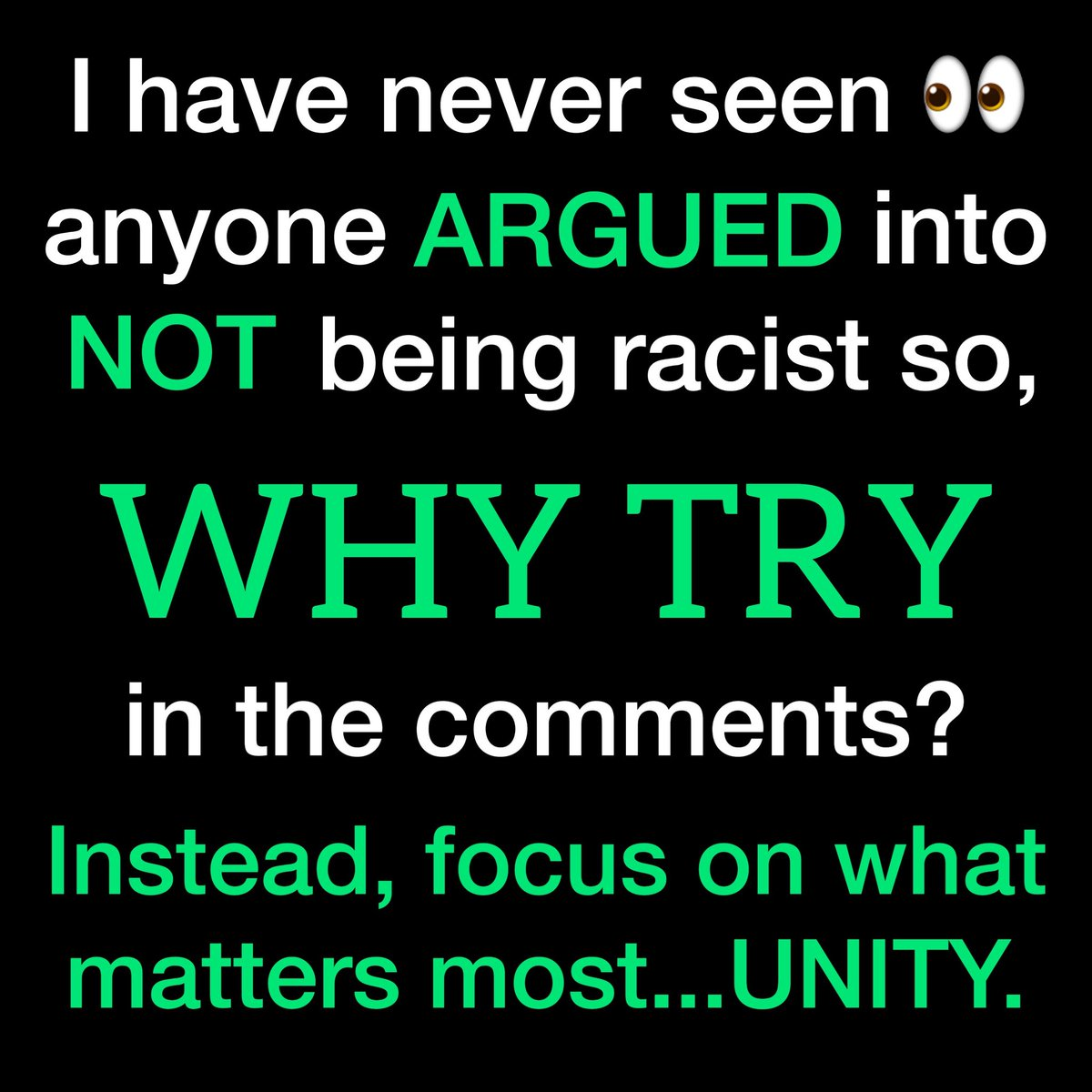 Just a couple of facts.  #unity #blacklivematter #NoRacism #lovethyneighbor https://t.co/SmCLKxN6EF