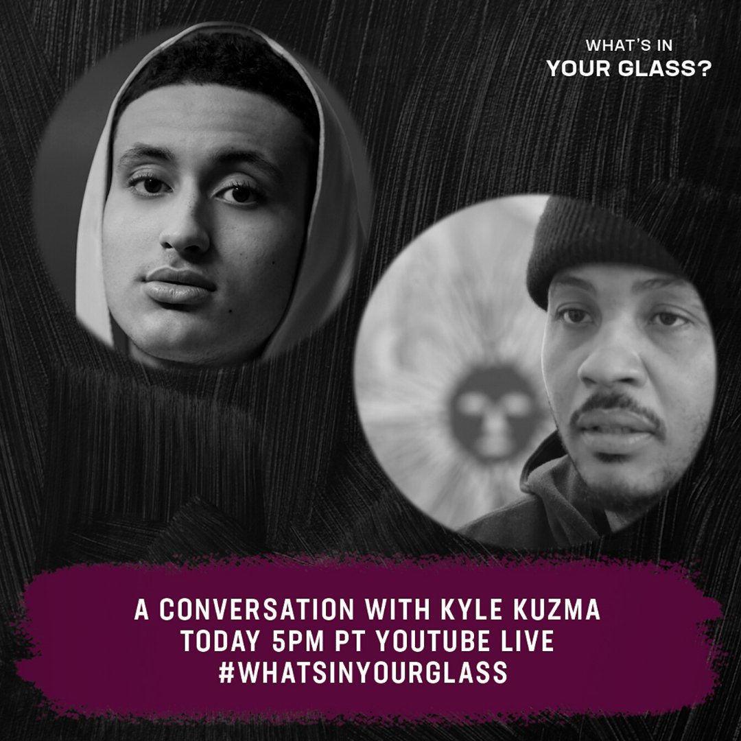 I got Kyle Kuzma @kylekuzma coming through on todays Whats In Your Glass? Hit the link bit.ly/MeloKuzma