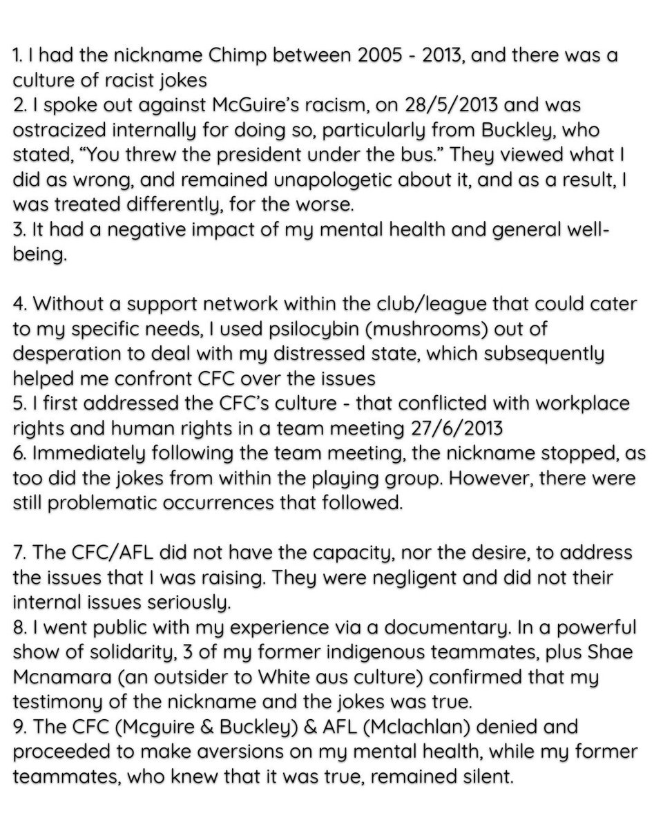 """The Collingwood football club operated from the premise that I was wrong to speak out about McGuire's racism. """"You threw the president under the bus"""", Nathan Buckley @cdesilva23 @davidzita1 @maxlaughton @wenzel87 https://t.co/OSzB4UICAD"""