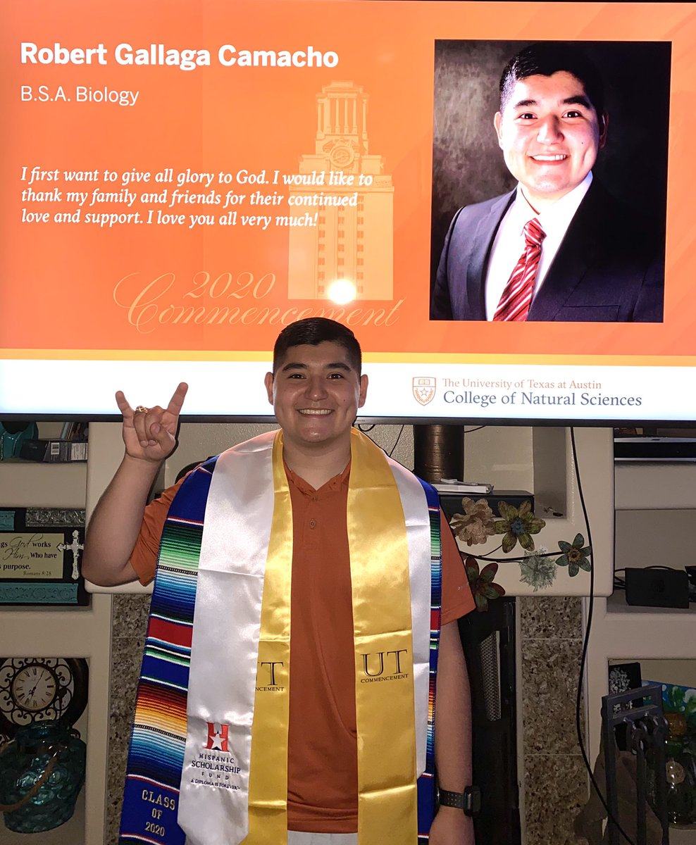 Extremely thankful and blessed for my four years on the forty acres, although this is a bittersweet moment, I am forever thankful for the love and support I received throughout my journey. Officially a Texas Ex and now on to the next, HOOK'EM Forever! 🤘🏼🧡 #utgrad20 #HookEm https://t.co/PoN99meFd6