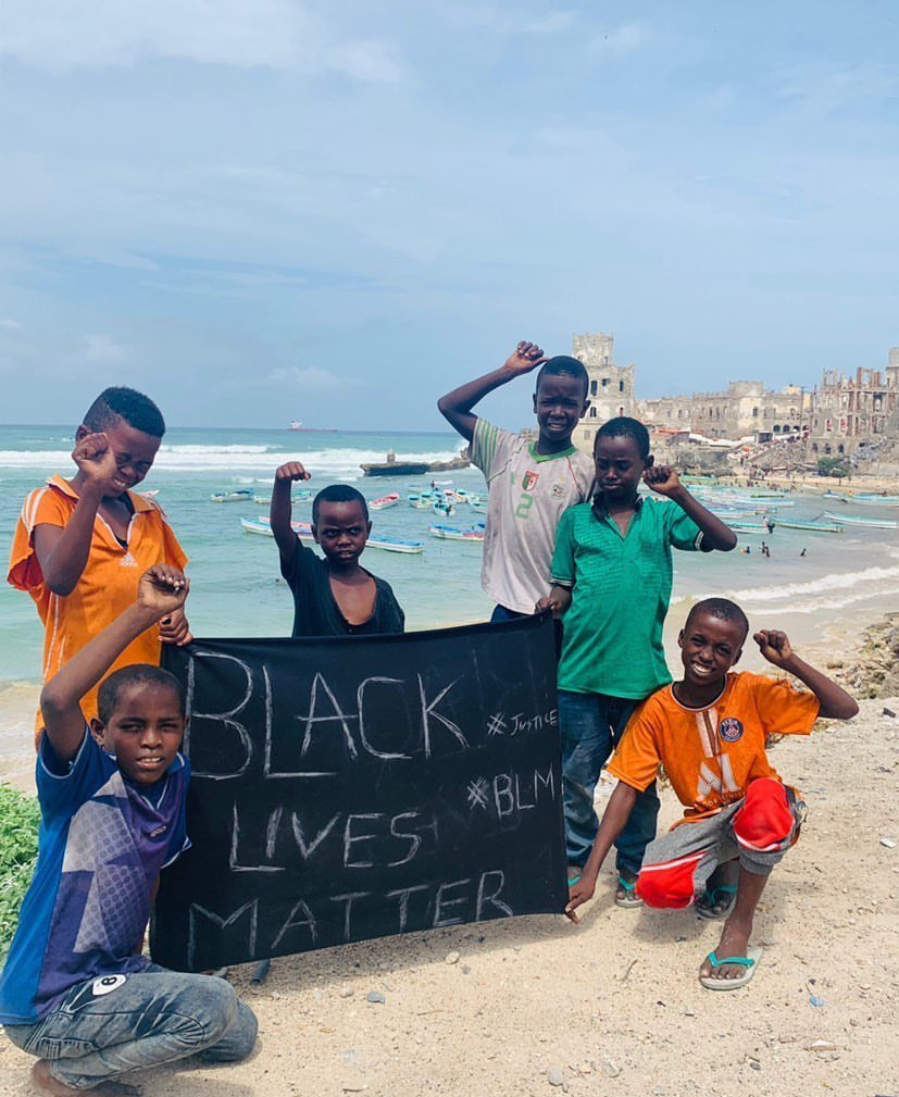Children in Mogadishu 🙏🏾❤️ #BlackLivesMatter #Somalia