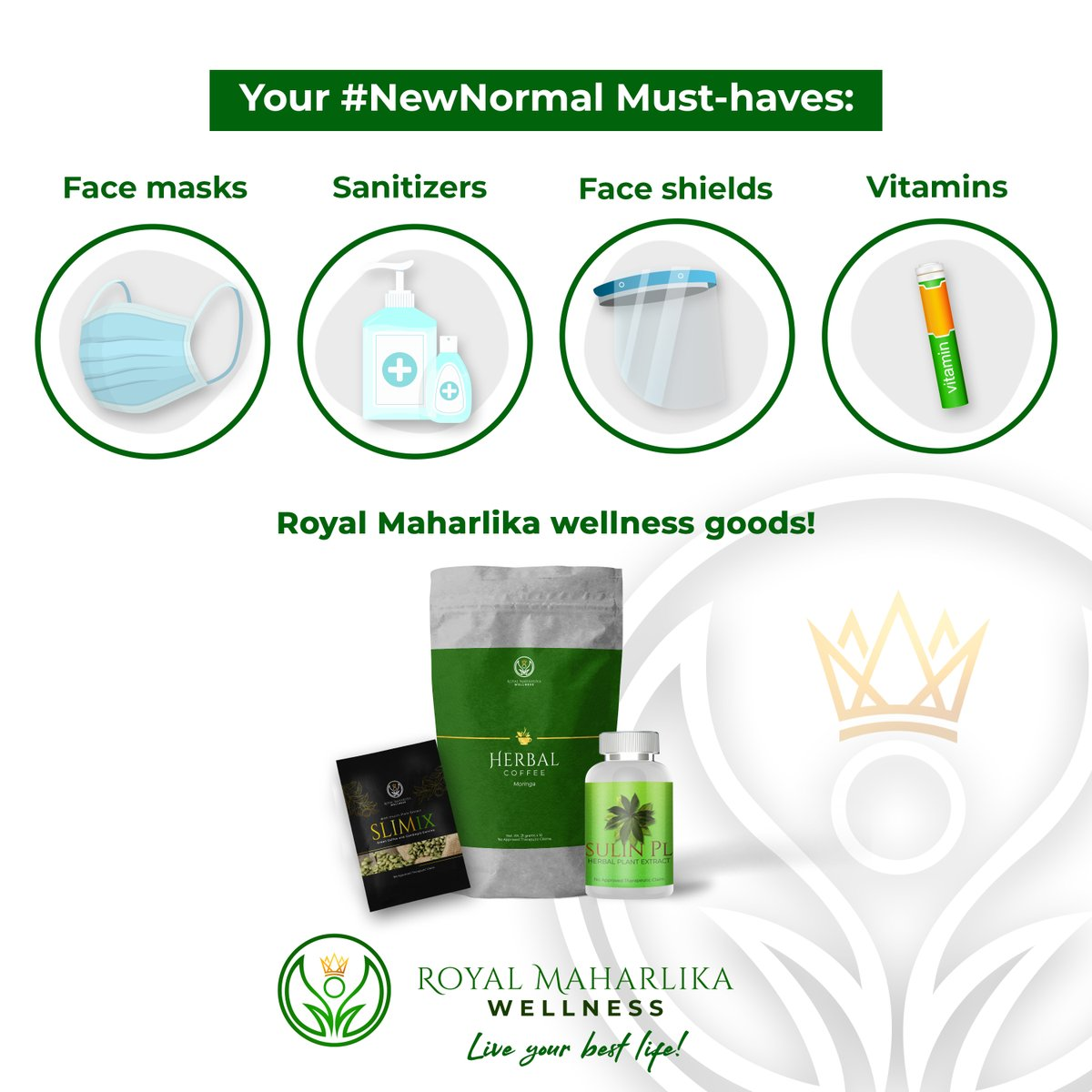 Going out for the first time in a while? Be sure you have these things with you and stay protected! #RoyalMaharlika #Liveyourbestlife https://t.co/fQEiaPLxUz