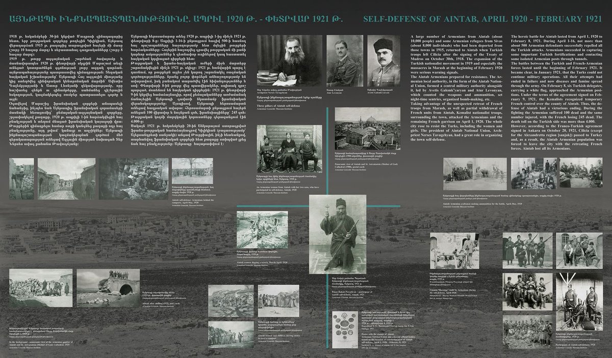 "🚩""Self-defense of Aintab, April 1920 – February 1921"" from the online exhibition titled ''Self-defense in Cilicia during the #Armenian_Genocide. Dedicated to the centennial of self-defense battles of #Marash, #Hadjin, #Aintab #Cilicia_SelfDefense_100  ➡️ https://t.co/ct2GMrLntJ https://t.co/b4t3Dwj6FH"