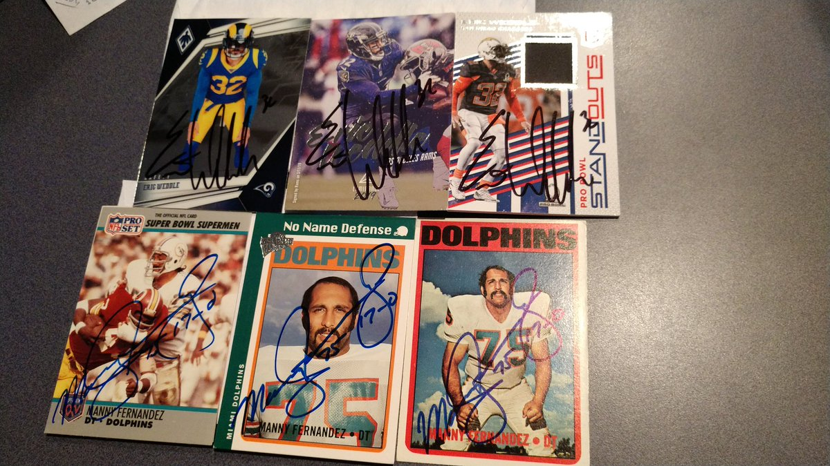 Mailday from Dolphins Legend Manny Fernandez and All Pro Eric Weddle https://t.co/MVu4IqXmmm
