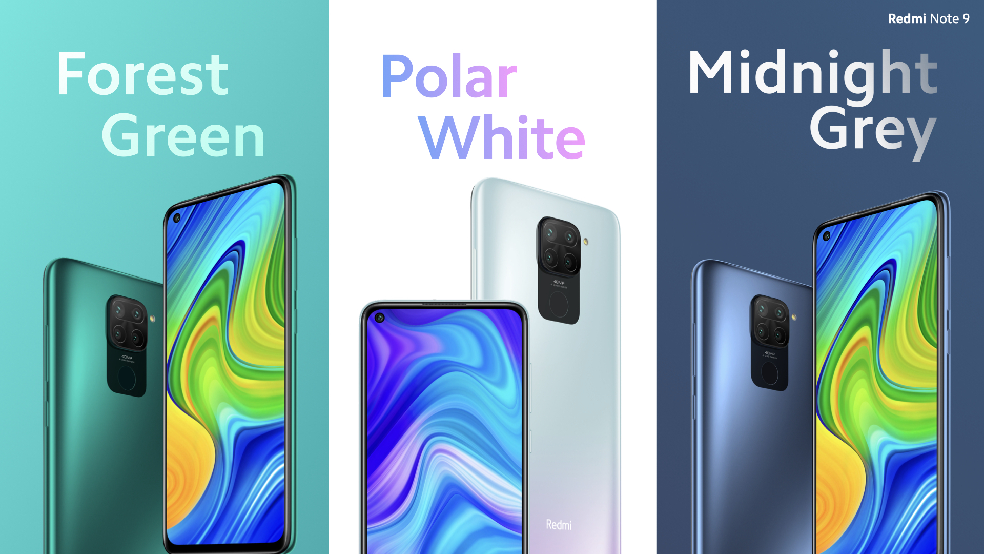 3 Pilihan Warna Redmi Note 9