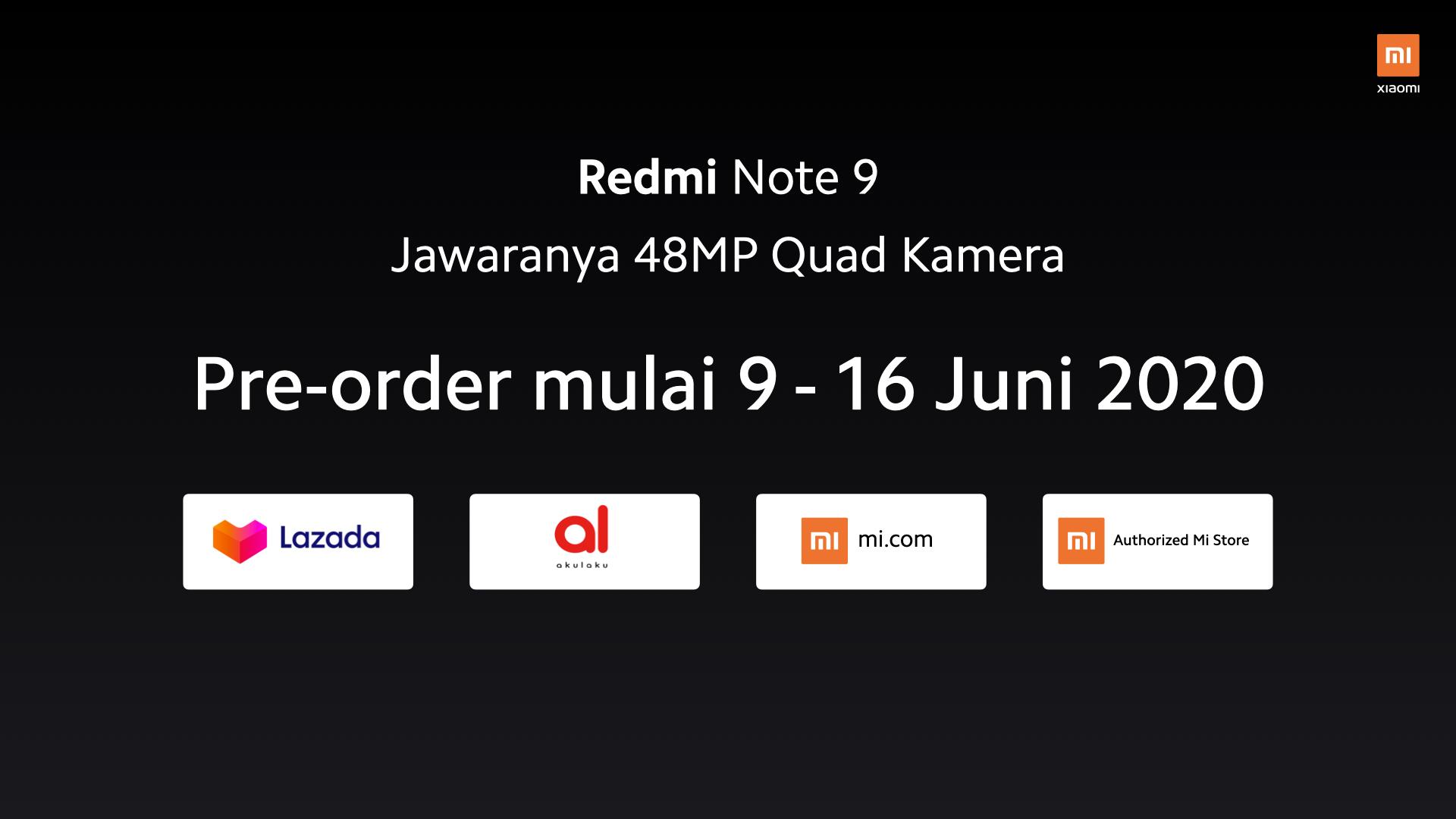 Penjualan Redmi Note 9