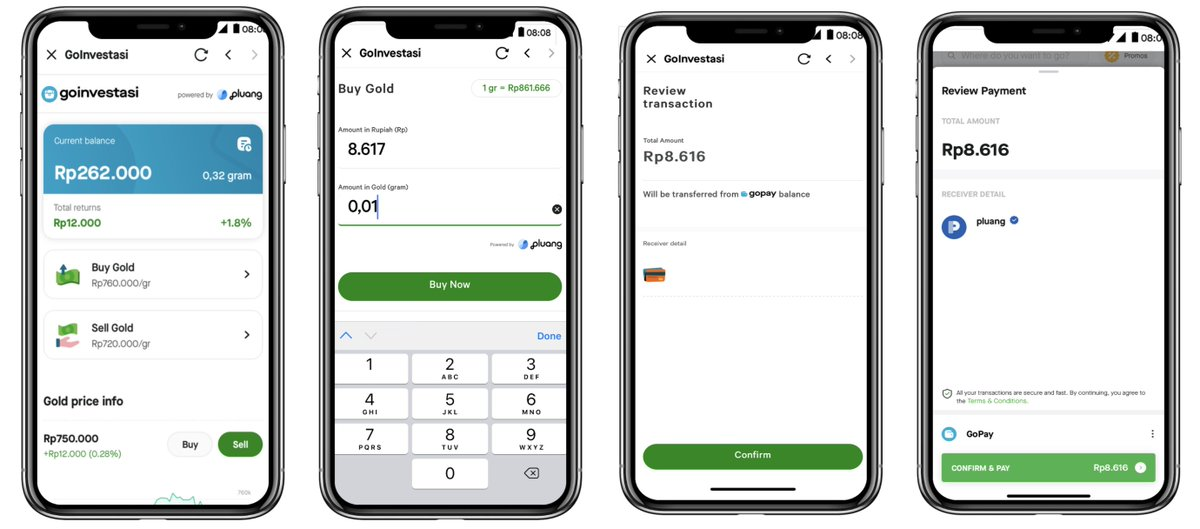 """Yoolim Lee on Twitter: """"Gojek gets into online investment. Its new  platform, GoInvestasi, allows users in #Indonesia to buy gold through  Gojek's app. They can liquidity their digital gold into cash through"""