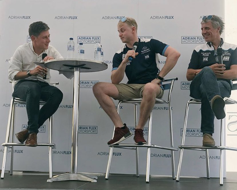 Two years since @adrianflux hosted their first live @BTCC Q&A. This, with @jasonplato & @ASuttonRacing, was a lot of fun at Oulton Park. Miss the buzz of working on live events and watching live sport. Here's hoping their return is sooner rather than later 🤞🏻 https://t.co/V4gG6FIimq