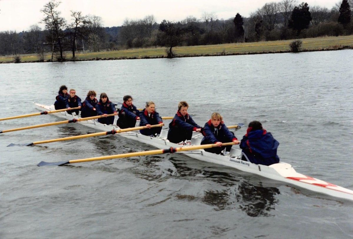 test Twitter Media - #MightyLightyMemories: Susanna Pulham (née Knight) - Blue Boat '87 & '88 • This photo is from our Boat Race day in 1987, we trained in Radley that year with the Blue Boat squad and a Radley coach, hence the borrowed Radley tops https://t.co/vMvcWIvsTC