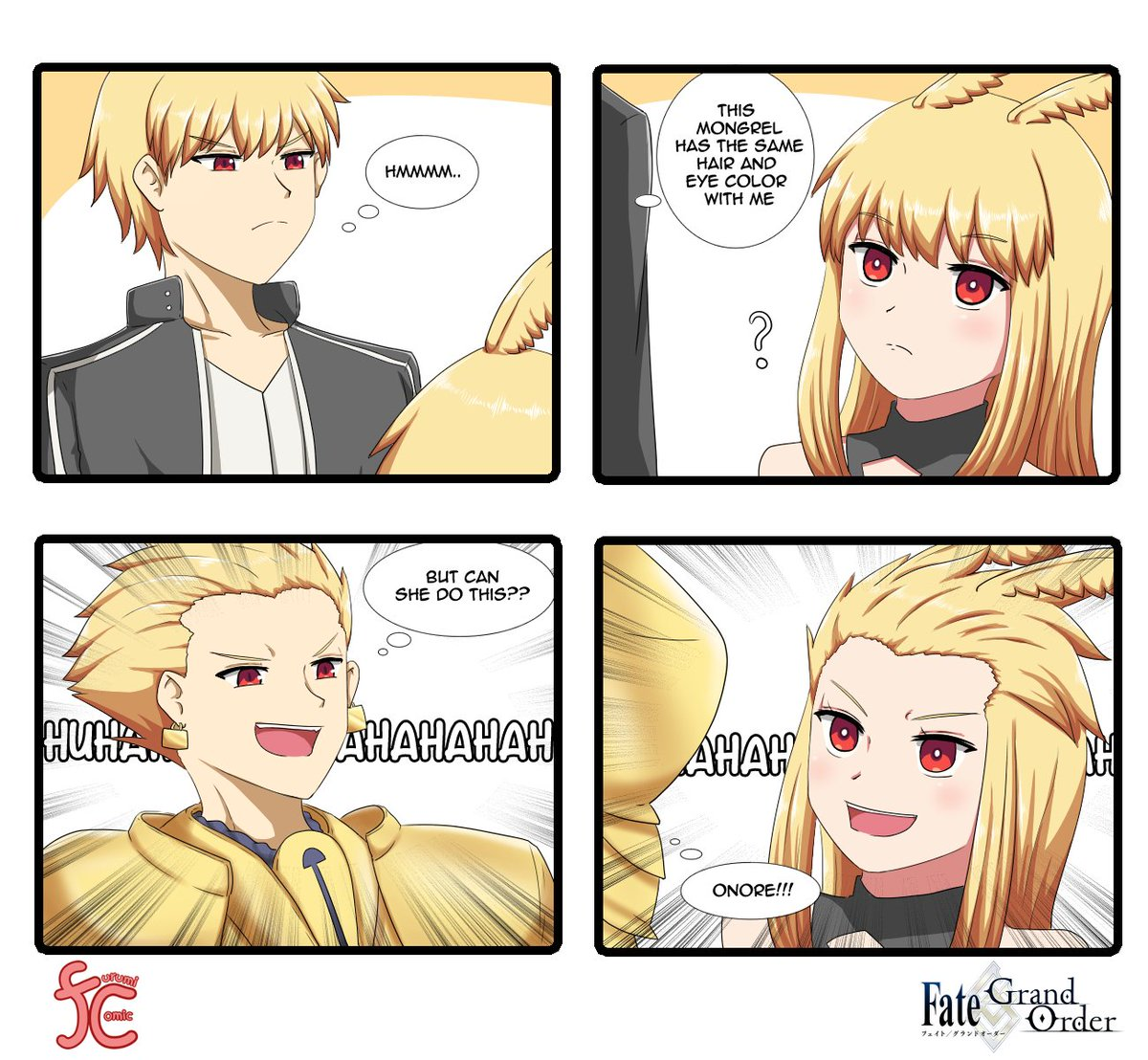 When Gil found out he has the same hair and eye color with Thrud #FGO https://t.co/B8LB7SXRSM https://t.co/O1h4JTTlqU