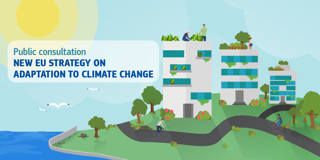 Take action!The Commission invites all stakeholders and citizens to submit views on the EU's new adaptation strategy in view of increasingly frequent and intense #climatechange impacts. https://t.co/ELswDewJcW @EUClimateAction @LIFEprogramme https://t.co/sh5r4eAPXg