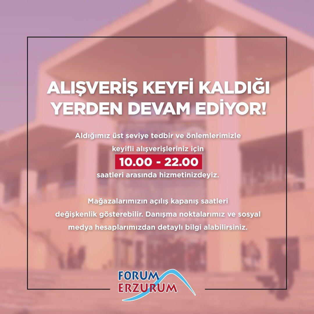 Forum Erzurum'da alışveriş keyfi devam ediyor! AVM içerisindeki gelişmeler için sosyal medya hesaplarımızı takip edebilirsiniz.🙏🏻 https://t.co/dfGxYpLUyo