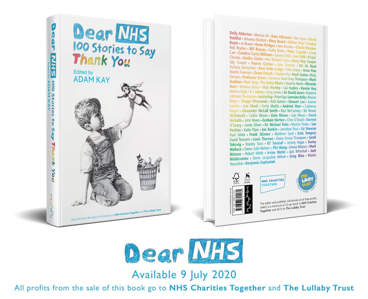 Thrilled to share the cover of DEAR NHS, out on 9th July, crammed full of wonderful stories, and all profits going to charity. Available to pre-order from https://t.co/imjyCubYKW or your lovely local bookshop. https://t.co/IWUYFb4yoR