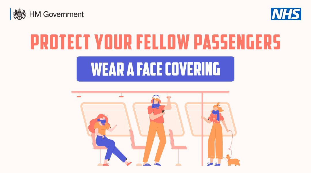 If you are travelling on public transport today, wear a face covering.   From 15 June this will be mandatory while using public transport in England.   #StayAlert https://t.co/EtWBEeYfrJ