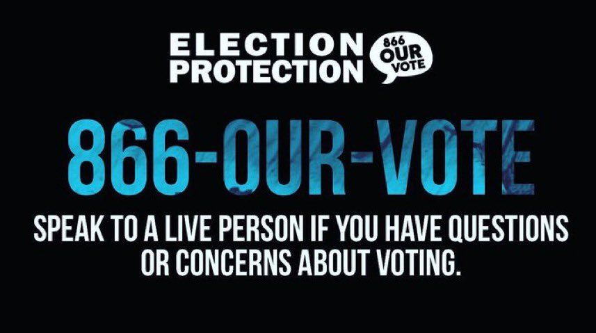 Voters in Georgia are experiencing long lines, broken machines and poll sites that opened late. Voters are being shortchanged today. Call our Election Protection hotline at @866OURVOTE (866-867-86863) to report problems. #VoterSuppression