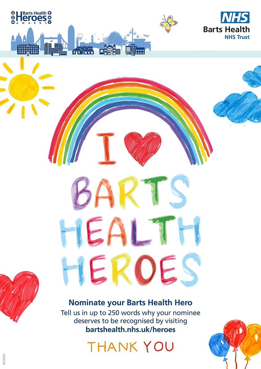 The official Barts Health Heroes film from the 2020 awards ceremony has been released. Watch it now and make a submission for your 2020 Barts Health Hero: https://t.co/wqKKPRuug7 https://t.co/w3ghpwoqYE