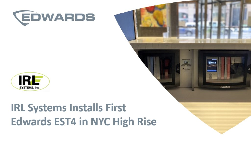 IRL Systems, based in Brooklyn NY, has successfully installed the first Edwards EST4 system in NYC. Two remote annunciators act as the Fire Command Center and are installed in the Lobby Desk of this 24 floor commercial building in the Garment District. https://t.co/wCOk3Cz9VJ