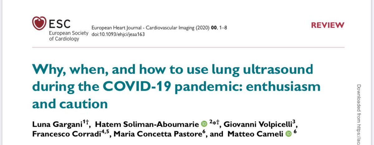 Our review on #LungUltrasound in COVID-19 is published at the European Heart Journal - Cardiovascular Imaging. Proud of this collaboration @LunaGargani @giovolpicelli @Matte_Cameli #cardiotwitter #pocus @escardio academic.oup.com/ehjcimaging/ad…