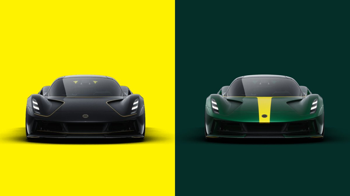 Black and Gold, or Yellow and Green? Design and Livery Editions are live NOW on the Evija configurator. https://t.co/H4qjNuKbIM How would you configure Evija? #ForTheDrivers #LotusEvija https://t.co/GNhYT3tww7
