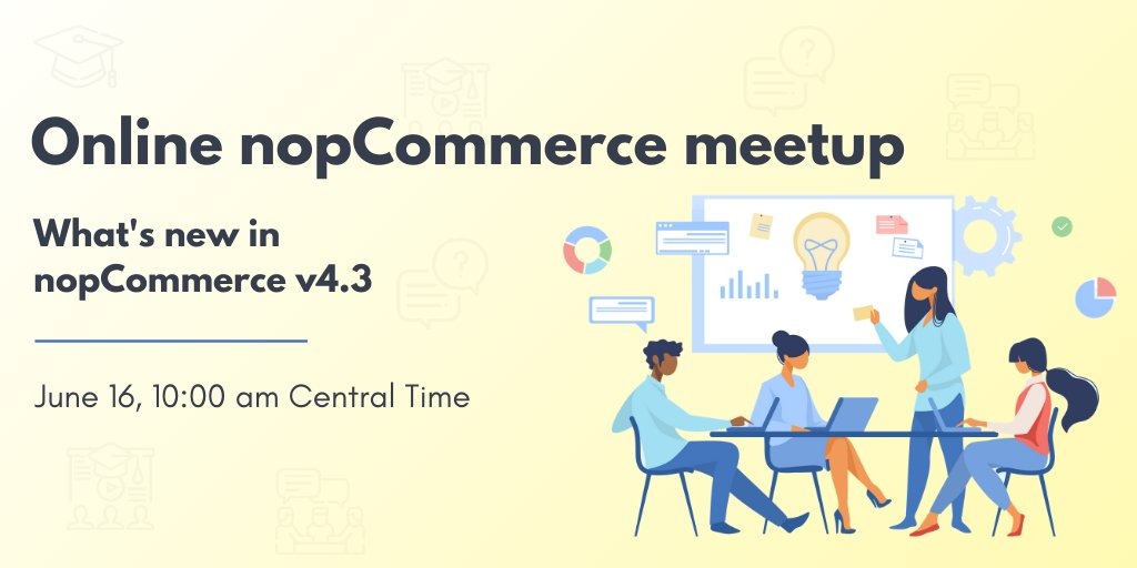 Online Meetup with nopCommerce MVP John Baluka and nopCommerce CEO & Founder Andrei Mazulnitsyn:  https://t.co/Cla1Xqvgoz https://t.co/DLlTc71PHv