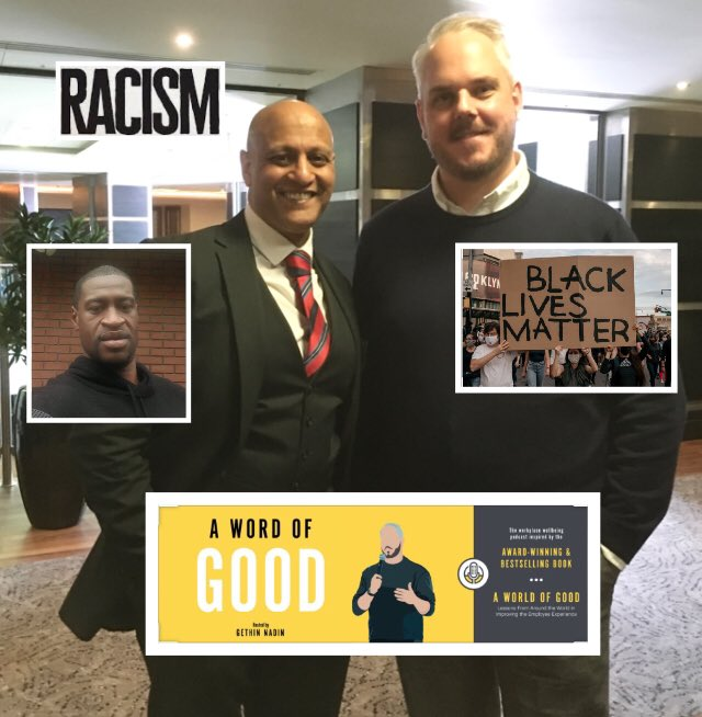 Very grateful to good friend, leading wellbeing expert & award winning author @WorldofGoodBook for giving me a platform to speak about racism on his podcast series @ https://t.co/ZZxPAyc8tT  #racism #blacklivesmatter #blm #diversity #inclusion #georgefloyd #icantbreathe #justice https://t.co/pU19403rx0