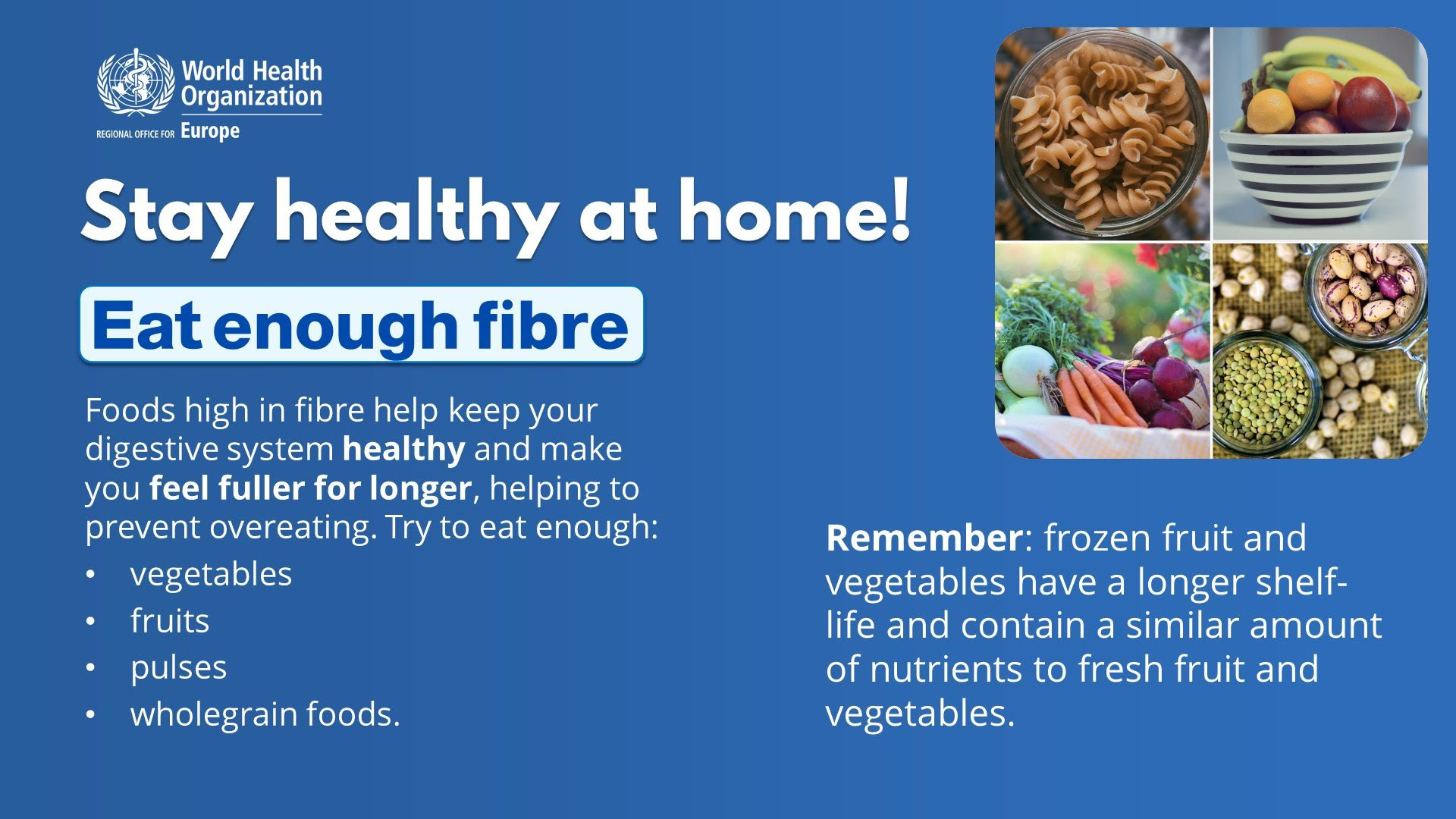 World Health Organization Western Pacific On Twitter Eat Plenty Of Fibre Foods That Are High In Fibre Keep Your Digestive System Healthy And Make You Feel Fuller For Longer Remember Frozen