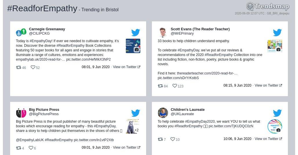 #readforempathy is now trending in #Bristol trendsmap.com/r/GB_BRI_deqwpu
