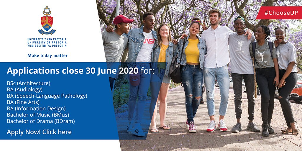 Univ Of Pretoria On Twitter Applications For The Ba Audiology Ba Speech Language Pathology Ba Fine Arts Ba Information Design Bachelor Of Music Bmus Bachelor Of Drama Bdram Selection Programmes Close On 30