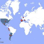 Image for the Tweet beginning: Mis seguidores viven en España(41%),Argentina(20%),Estados