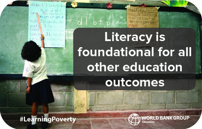 What will it take to end #LearningPoverty? 53% of kids in low- and middle-income countries are unable to read + understand age-appropriate story by age 10. #education  Literacy is key to ending poverty! https://t.co/Uq1JKld83h