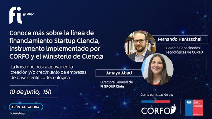 ⏰Mañana a las 15h será la hora para conocer más sobre la línea de financiamiento Startup C....