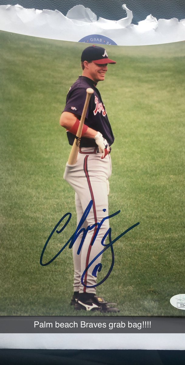 Got a Braves grab bag @pbautographs and pulled this guy @RealCJ10 !!! Go @Braves !!! https://t.co/gli9ApsSkA