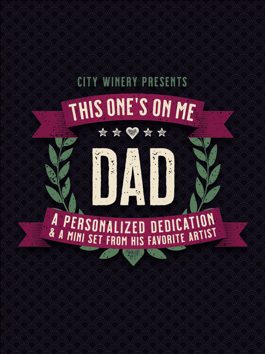 Hello friends. I've teamed up with @CityWineryNYC  to celebrate the Dads and special men in your life with personalized musical messages! Today, 6/10, is your LAST CHANCE to purchase a dedicated Father's Day message and mini-set from me. Check it out here: https://t.co/MkuJgVCuws https://t.co/2e61E5VE4B
