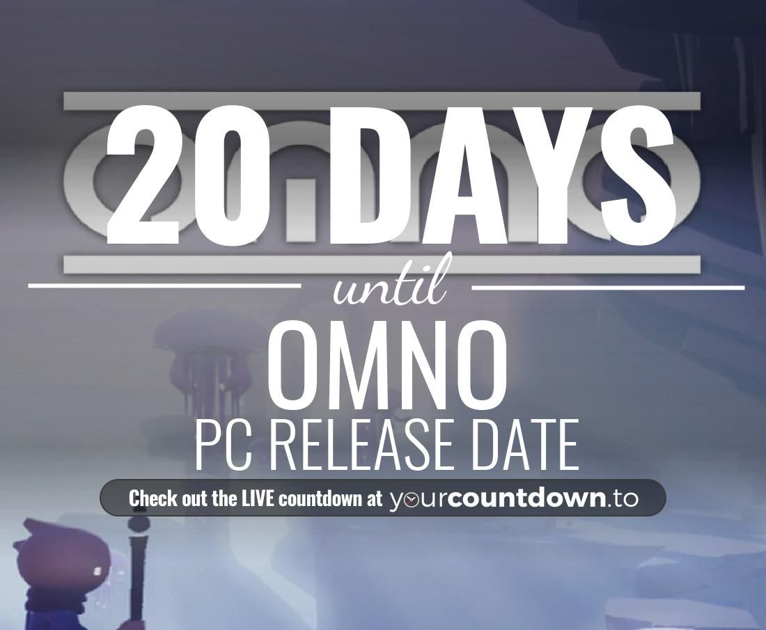 Only 20 more days before OMNO - PC Release Date #OMNO          👇👇 Visit the website to see the LIVE countdown 🕒 https://t.co/KtWFijmxxS https://t.co/OTOz2eFLTb
