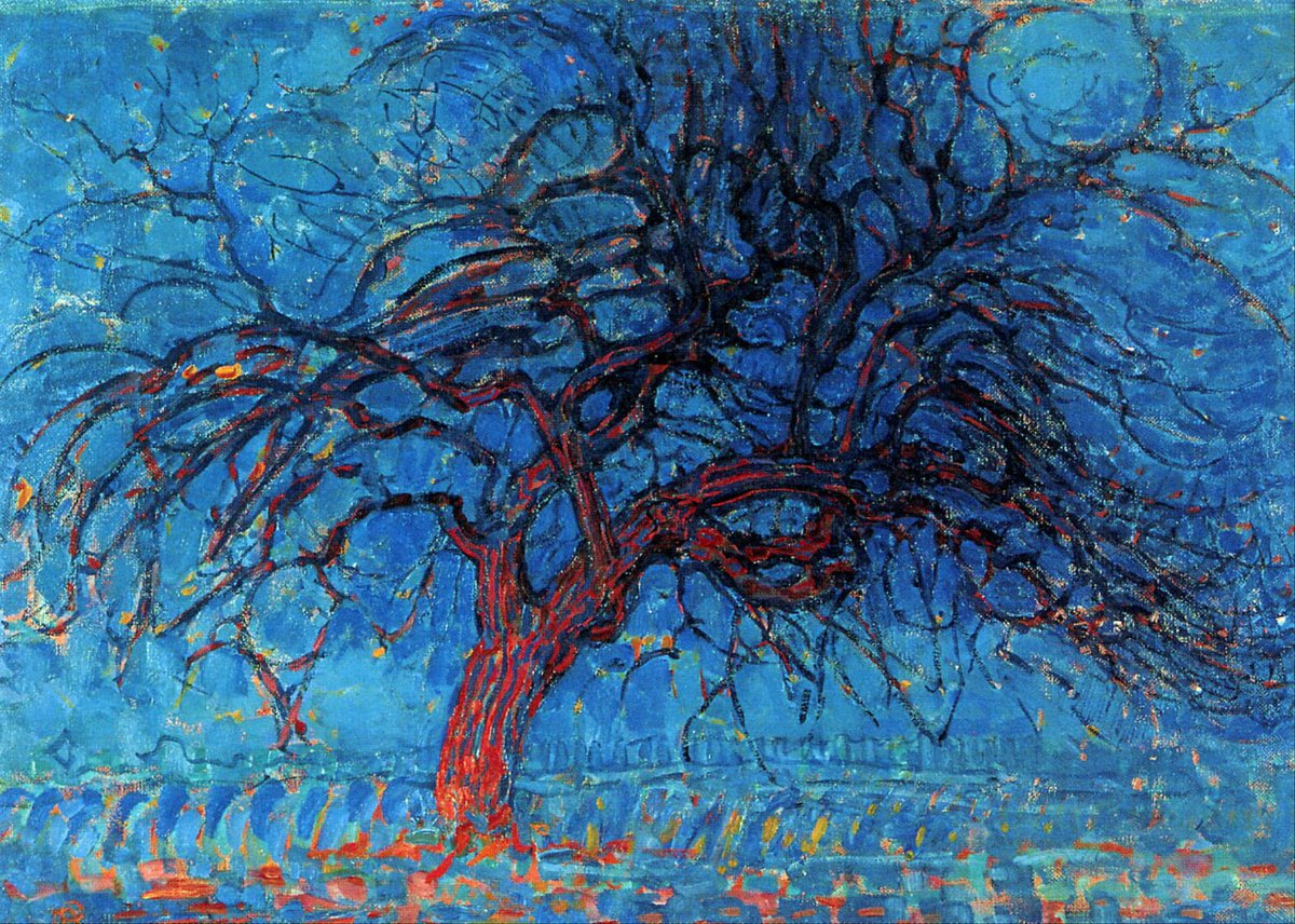 """Avond (Evening): The Red Tree"" Pieter Cornelis Mondriaan (Dutch,1872—1944)"