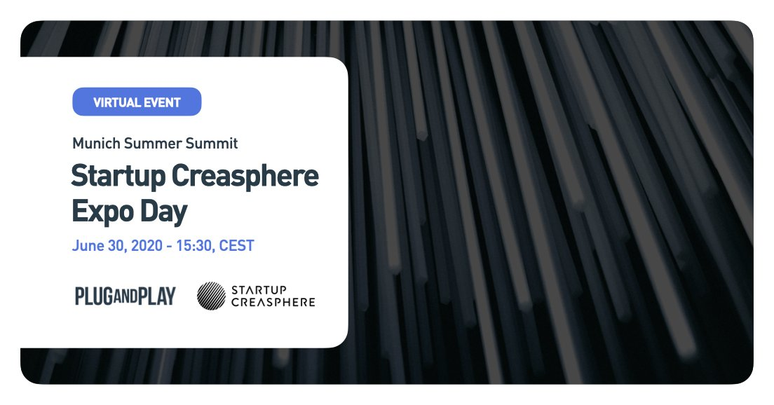 On Day 1 of Munich Summer Summit 2020 the spotlight will be on @StrtpCreasphere! Join us to discover the results of the Batch 4 startups that worked together with @Roche & @sanofi in our #Health Innovation Program.   Register now 👉 https://t.co/YBq40NOxTF #MucPnPSummer2020 https://t.co/JVfdhSOC3T
