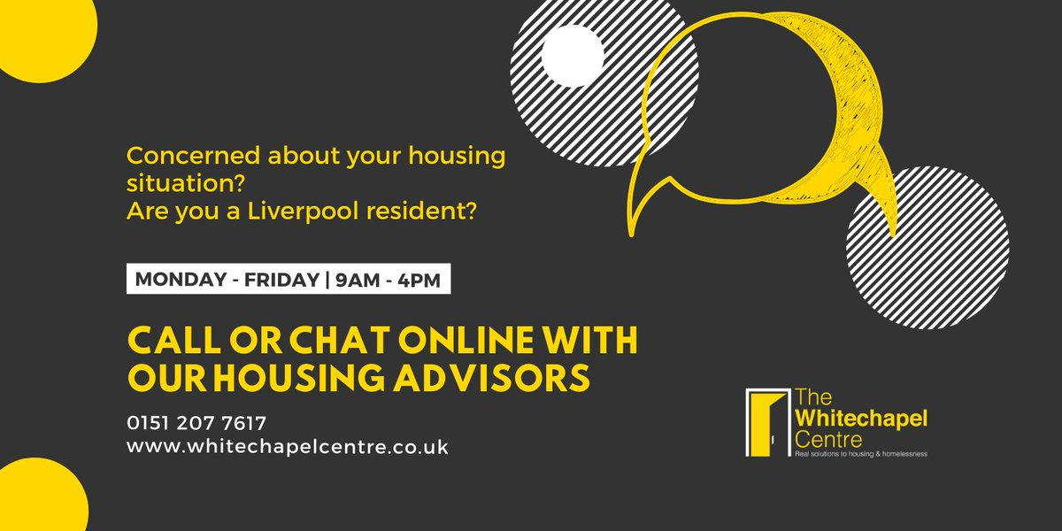 Weve made changes to our services but were still here to help. If you are worried about your housing situation please talk to us by phone or online. #PreventHomelessness #Liverpool #Covid19UK